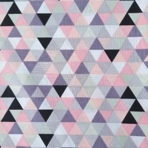 triangles rose et gris