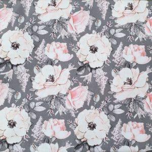 fleuri fond gris