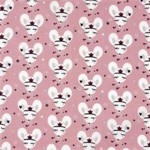 têtes de souris rose bordeaux